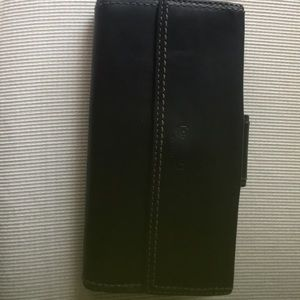Coach soft black/pink leather wallet